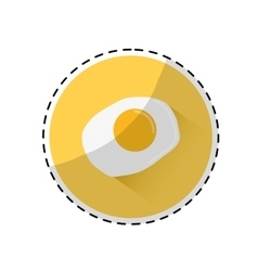 Fried egg icon image vector