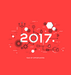 future trends and prospects in business process vector image vector image