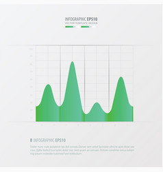 graph and infographic design green color vector image