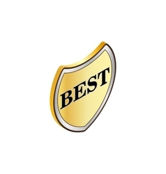 Label best icon isometric 3d style vector image vector image