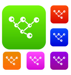 molecule structure set collection vector image vector image