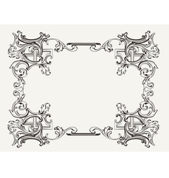Original Renaissance Ornate Frame vector image