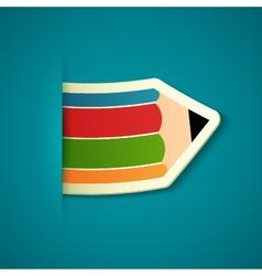 Paper pencil sticker vector image vector image