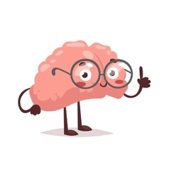 Smart brain character vector image