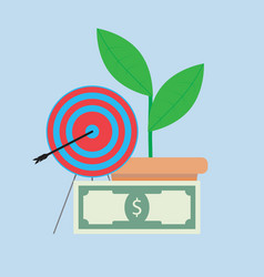 successful financial growth vector image