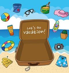 Summer vacation vector image