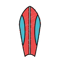 Surfboard icon image vector