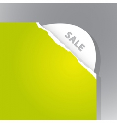 torn paper sale sign vector image vector image
