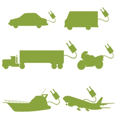 transport vehicle green vector image vector image