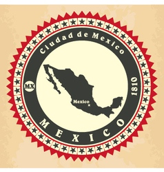 Vintage label-sticker cards of Mexico vector image