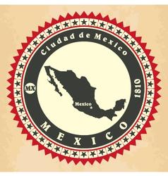 Vintage label-sticker cards of mexico vector