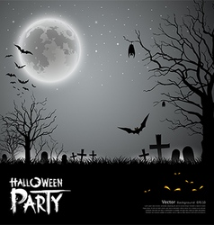 Halloween party scary background vector image