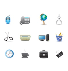 Set of office tools icon vector