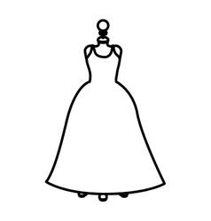 Isolated female dress cloth design vector
