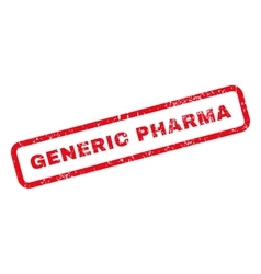 Generic pharma text rubber stamp vector