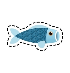 Isolated china fish decoration design vector