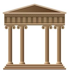 Ancient greek architecture vector