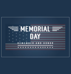 Background banner memorial day collection vector
