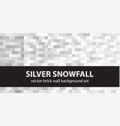 Rectangle pattern set silver snowfall seamless vector
