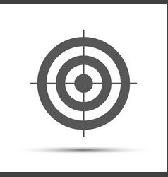 Simple gray pictogram in the shape of a target vector