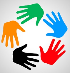 Hands of friendship vector