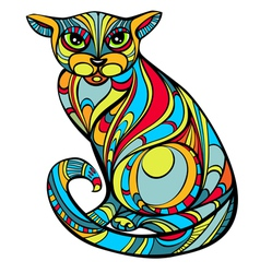Improbable cat vector image