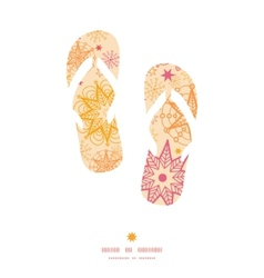 Warm stars flip flops silhouettes pattern frame vector