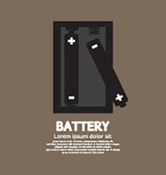 Two batteries graphic vector