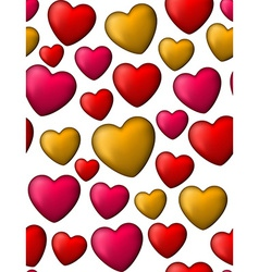 Colorful love seamless background of heart bubbles vector image