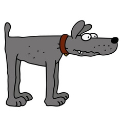 Funny gray dog vector