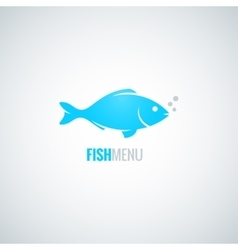fish logo design background vector image
