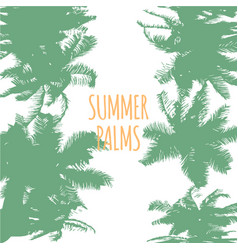 abstract colorful summer palms background vector image vector image