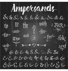 Ampersands Hand Drawn and catchwords vector image