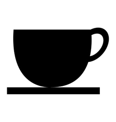 black cup of coffee graphic vector image