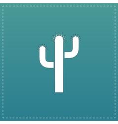 Cactus flat icon vector