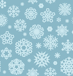 Christmas seamless pattern with snowflakes blue vector