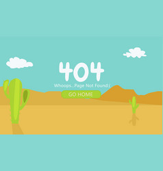 Desert with cacti page 404 not found vector