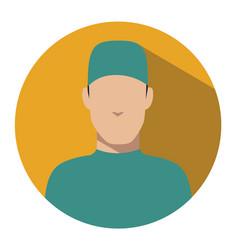 doctor web icon surgeon avatar vector image vector image