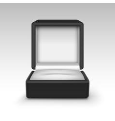 Empty black velvet opened gift jewelry box vector