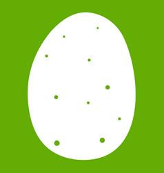 fresh potato icon green vector image