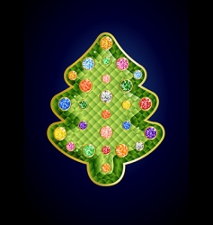 gemstone Christmas tree vector image