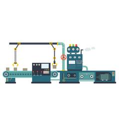 Industrial factory construction equipment vector