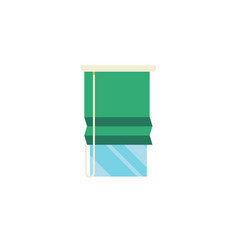 Isolated glazing flat icon balcony element vector