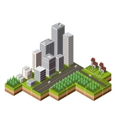 Isometric city center vector