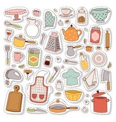 Kitchen set icon vector