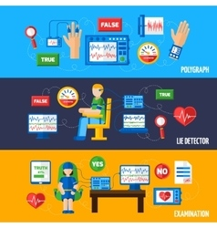 Lie detector banners vector