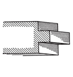 Raised fillet a roman moulding generally made vector