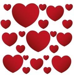 Red hearts love valentine poster design vector