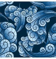 Seamless wave swirls pattern vector image vector image