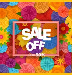 Season sale off concept background vector